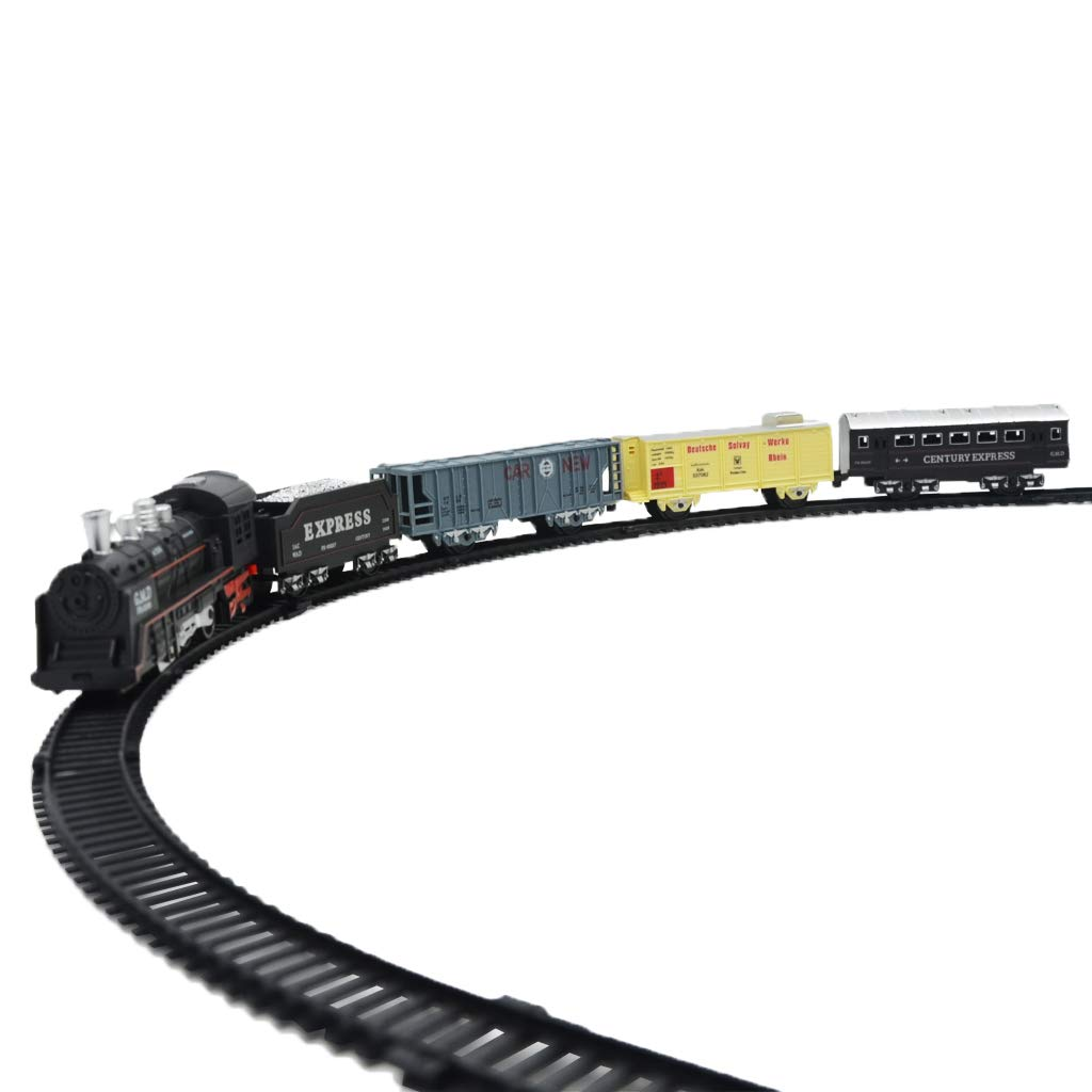 Electric Simulation Train Railway Track Model Set Collection Educational Toys Birthday Gift for Children Kids Toddler
