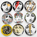 Fornasetti Crafts Ceramic Plates Home Decoration Fornasetti Plate Porcelain Wall Plates 8 Inch Wholesale