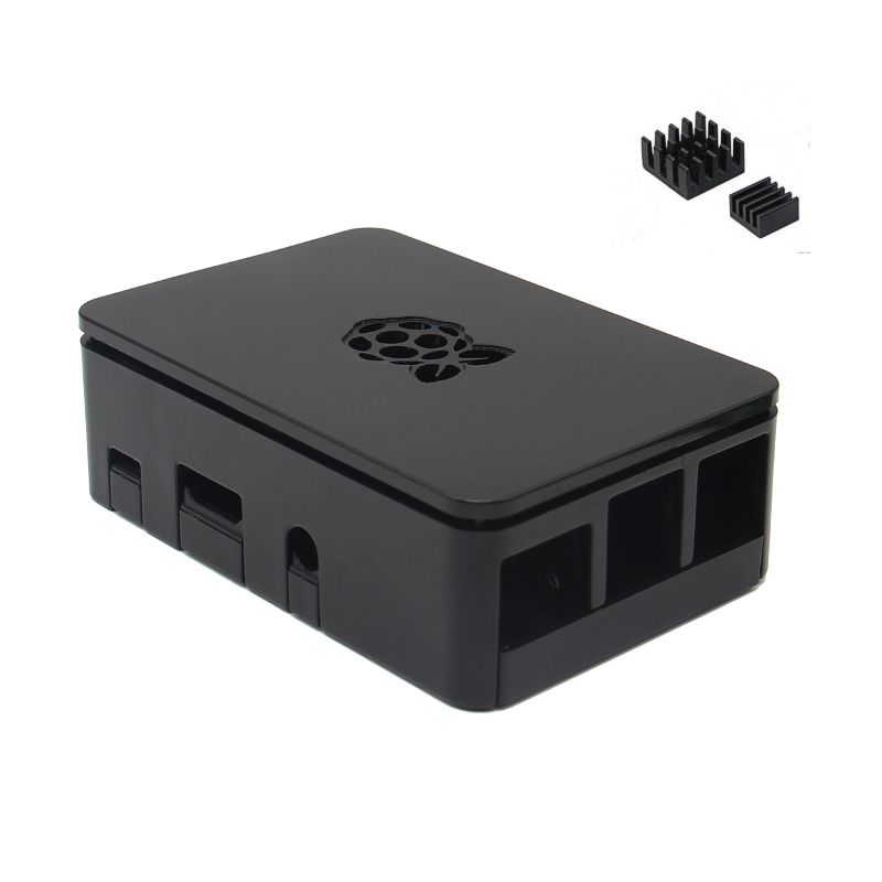 Black Case ForRaspberry Pi Cases Enclosure Box V4 With Heat Sink For Raspberry Pi 3/2/B+ Removable Lid Case