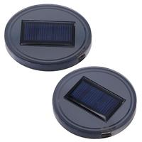 2 PCS USB Solar Energy Cup Mat Coaster Waterproof Anti slip Mug Pad Holder Interior Decoration Atmosphere LED Light For Cars