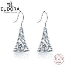 Женские Треугольные Серьги подвески eudora из стерлингового