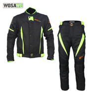 Езда племя мужской мото rcycle комплект одежды водостойкий езда Мото Кросс куртка брюки костюм комбинации колено протектор мото одежда