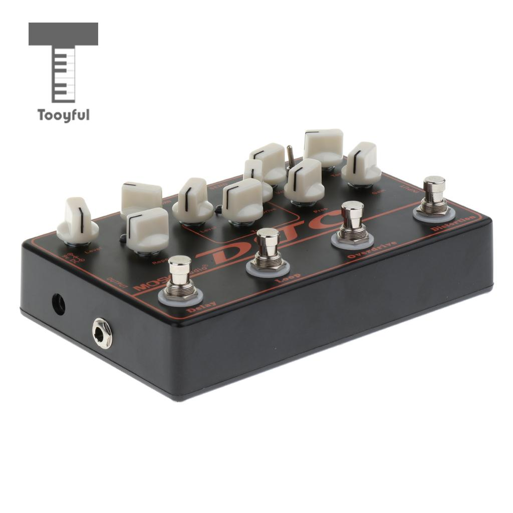 Tooyful Aluminium Alloy Controller Multi-Effect Pedal Distortion Overdrive Delayed Effects Pedal Accessories