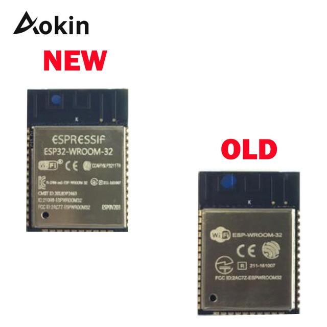 ESP32 WROOM 32 ESP WROOM 32 ESP 32S ESP D0WDQ6 Dual Core 32Mbits 4MB spi UART โหมด SMD ESP32 โมดูล esp32s