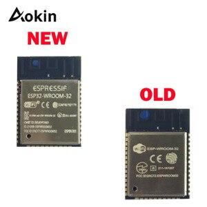 Image 1 - ESP32 WROOM 32 ESP WROOM 32 ESP 32S ESP D0WDQ6 dwurdzeniowy 32 MB 4MB SPI flash UART tryb SMD ESP32 moduł esp32s
