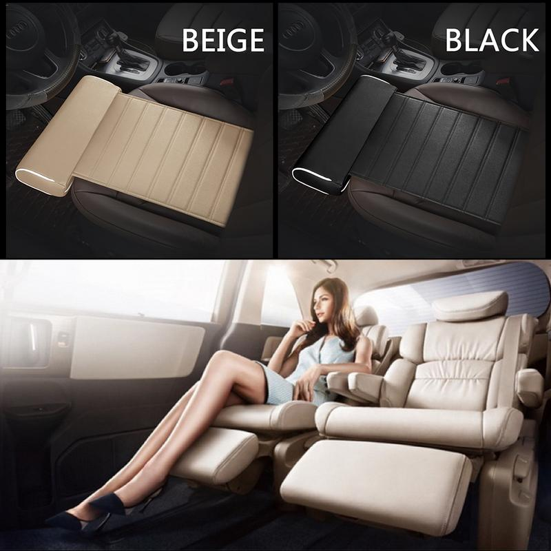 Large Size Universal Car Foot Support Pillow Leg Support Car Seat Cushion Leather Leg Rest Cushion Knee Pad Thigh Support Pillow