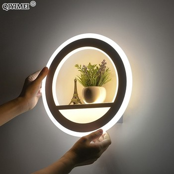 Nowoczesne lampy ścienne LED na lampki nocne do sypialni LED Nordic projektant salon kinkiet lampy tanie i dobre opinie QIYIMEI Do montażu na ścianie Żarówki led W górę iw dół Metrów 5-10square Kinkiety Akryl Pokrętło przełącznika
