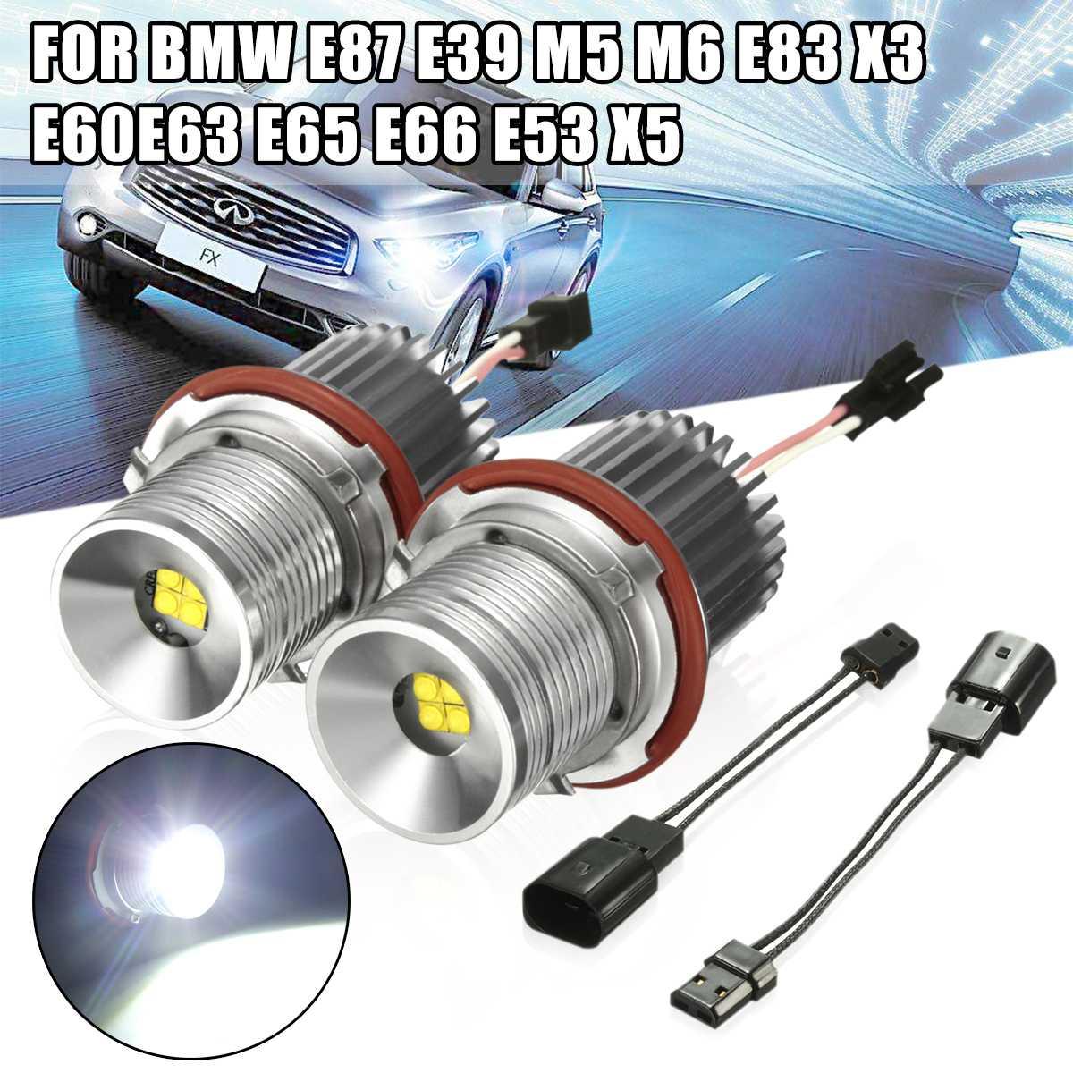 2X40 W Car LED Angel Eyes o Halo Anel Marcador Luz Lâmpada Lâmpada 63126916097 Para BMW 1 H8 5 7 6 E39 E60 E61 E63 E64 E65 E66 E83 E87