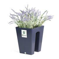 2pcs/set Flowerpot Deck Rail Plants Pots Box Garden Flower Planter Flower Pots Balcony Rail Planters with Screw