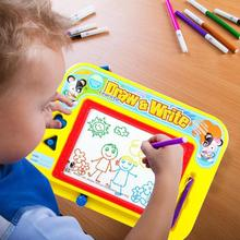Drawing Board Toys Fun Colorful Writing Tablet Toys Colorful Magnetic Kids Doodle Early Education Toy Gift for Children Creative