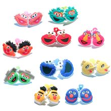 1pair/2pcs Sesame Street Cartoon Elastic Rubber Hairbands Ponytail Hair Accessories for Girls Headwear Kid Xmas Party Gift(China)