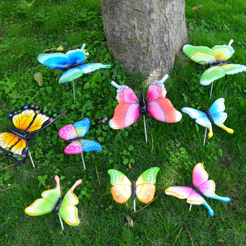 10PCS/Lot 7cm Artificial Butterfly Garden Decorations Simulation Butterfly Stakes Yard Plant Lawn Decor Fake Butterefly Random10PCS/Lot 7cm Artificial Butterfly Garden Decorations Simulation Butterfly Stakes Yard Plant Lawn Decor Fake Butterefly Random