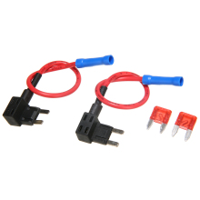 Brand New 2Pcs 12/24V Fuse Holder Add A Circuit Tap Mini Blade ATO ATC+Blade Fuses Mayitr