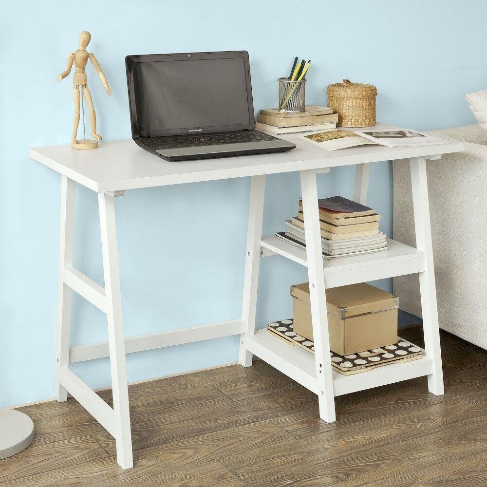 SoBuy FWT16 W White Home Office Table Desk Workstation