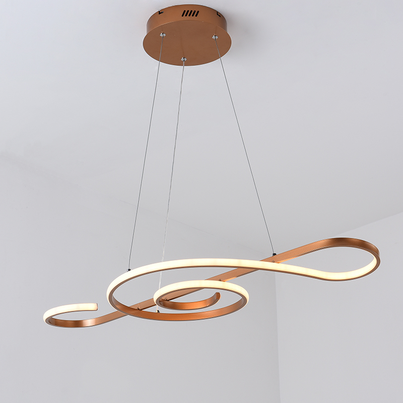 Champagne Or Moderne Led Pendentif Lumieres Pour Salle A Manger