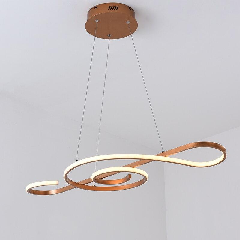 Champagne or moderne pendentif LED lumières pour salle à manger cuisine suspendus lumières Suspension Luminaire lampe nordique lampe Suspension