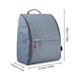 Image 5 - 섬insu한 폴리 에스터 큰 엄마 아빠 배낭 아기 기저귀 기저귀 가방 유모차 스트랩과 여행 저장 가방 매트 젖은 변경