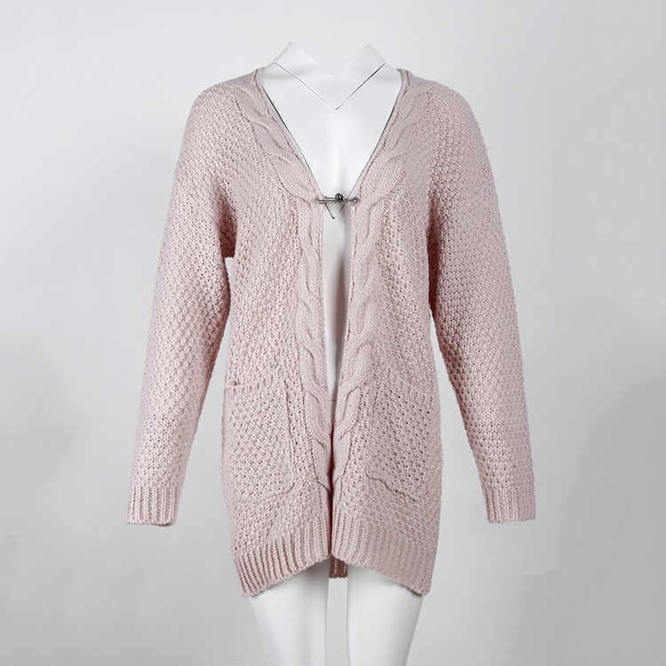 U-SWEAR 카디건 스웨터 여성 스웨터 니트 긴 소매 니트 소녀 캐주얼 아우터 겨울 당겨 플러스 사이즈