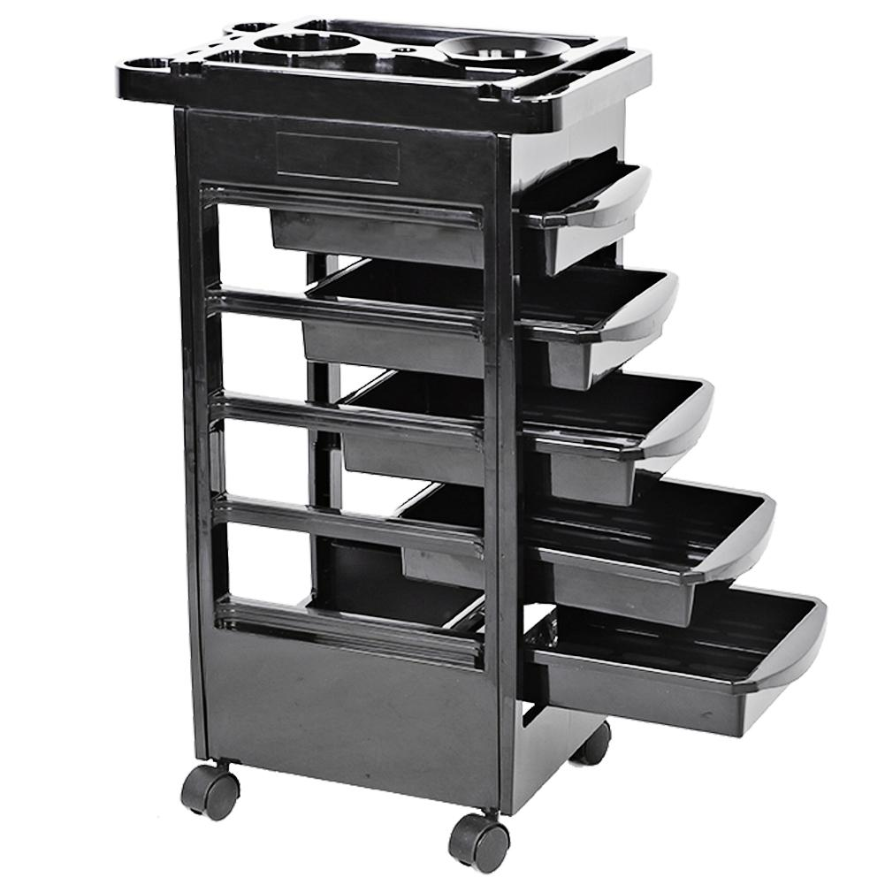 5-drawers-hair-salon-instrument-storage-cart-adjustable-height-trolley-beauty-tools