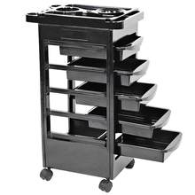 5 Drawers Hair Salon Instrument Storage Cart Adjustable Height Trolley Beauty Tools(China)