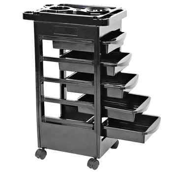 5 Drawers Hair Salon Instrument Storage Cart Adjustable Height Trolley Beauty Tools - DISCOUNT ITEM  34% OFF All Category