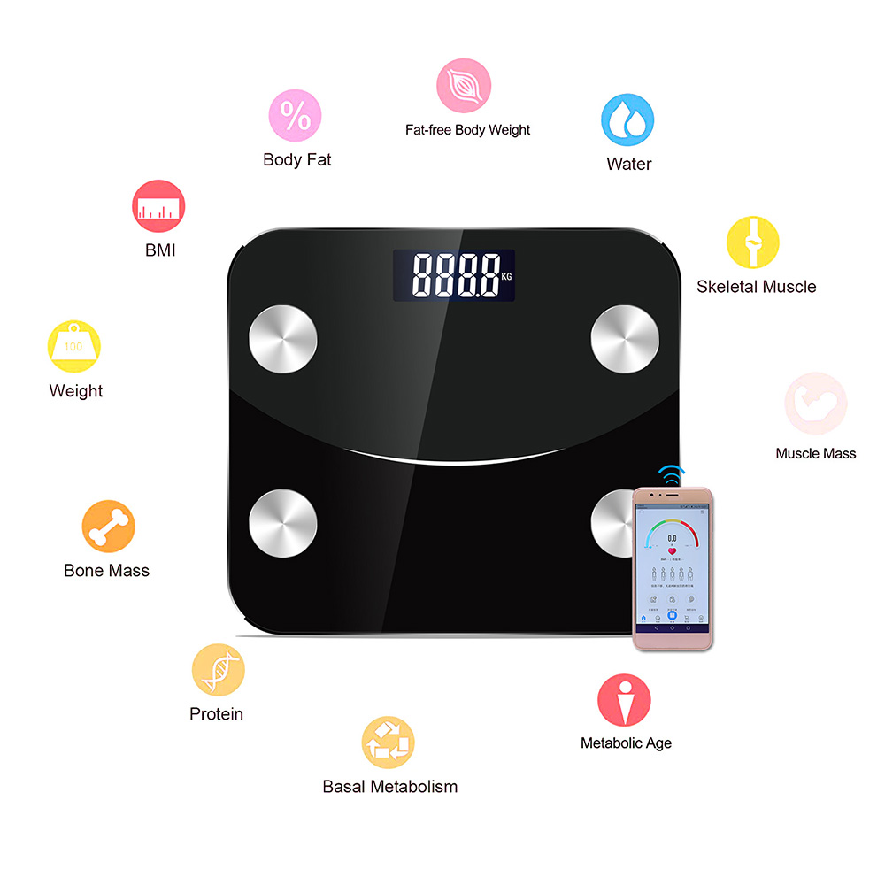 Scale-Monitor-Analyzer Connection-Fat-Scale Composition Smart-Bmi-Scale Body-Fat-Monitors