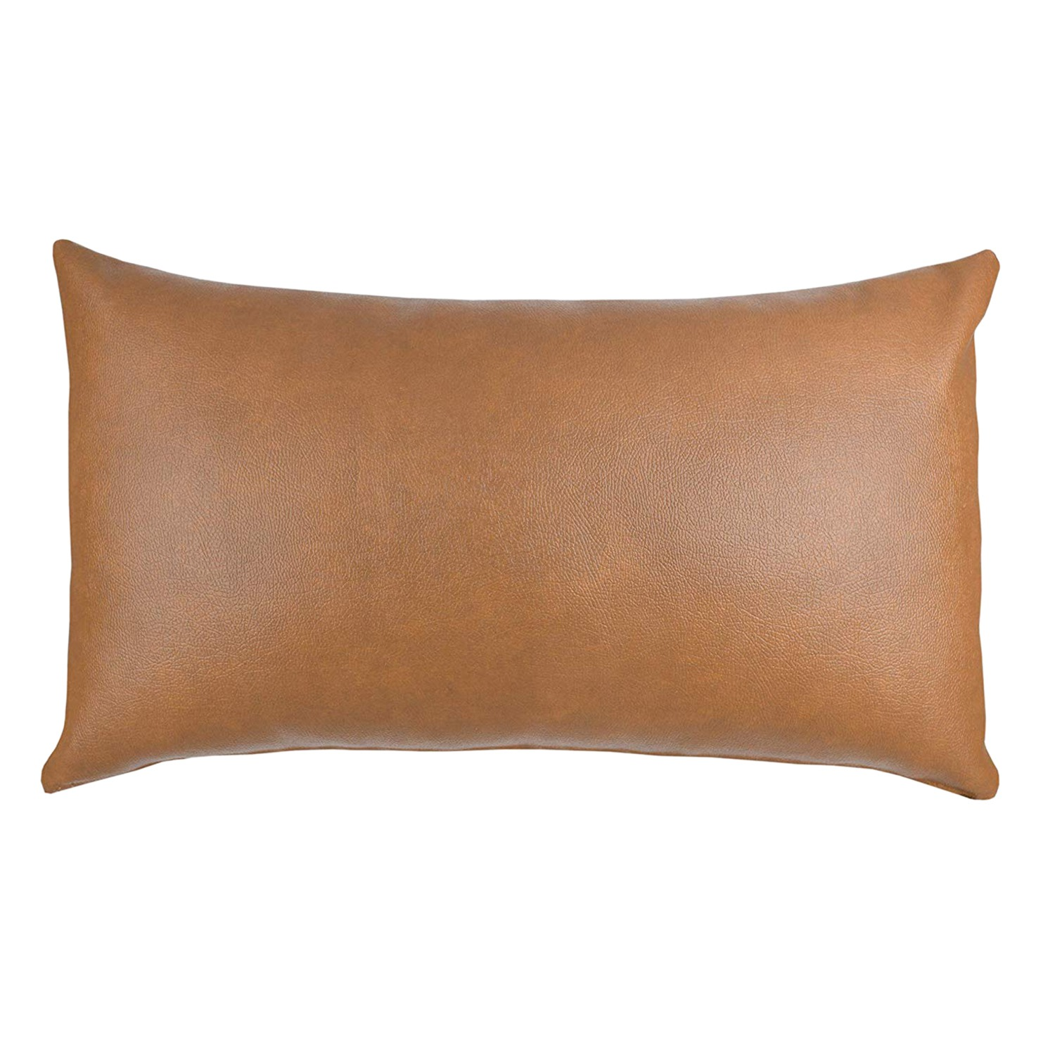 Decorative Lumbar Throw Pillow Cover Only For Couch,Or Bed Modern Quality Design 100% Faux Leather Milo Lumbar(12 Inchx20