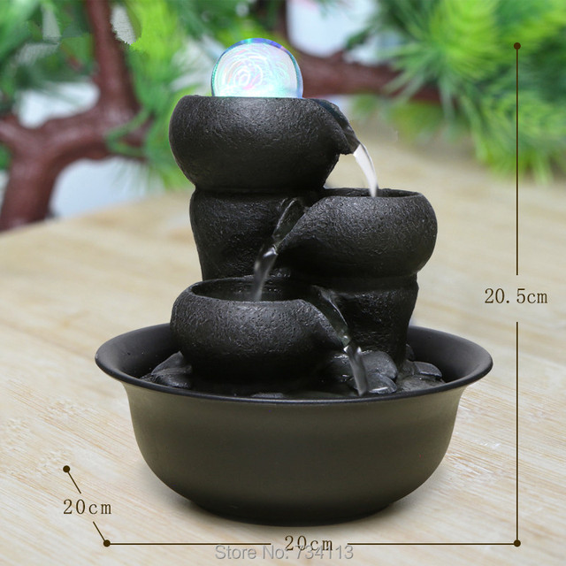 Mini Fountain Decorative Indoor Water Fountains Office Desktop Gift Home Decorations Humidification Artificial Stones Craft