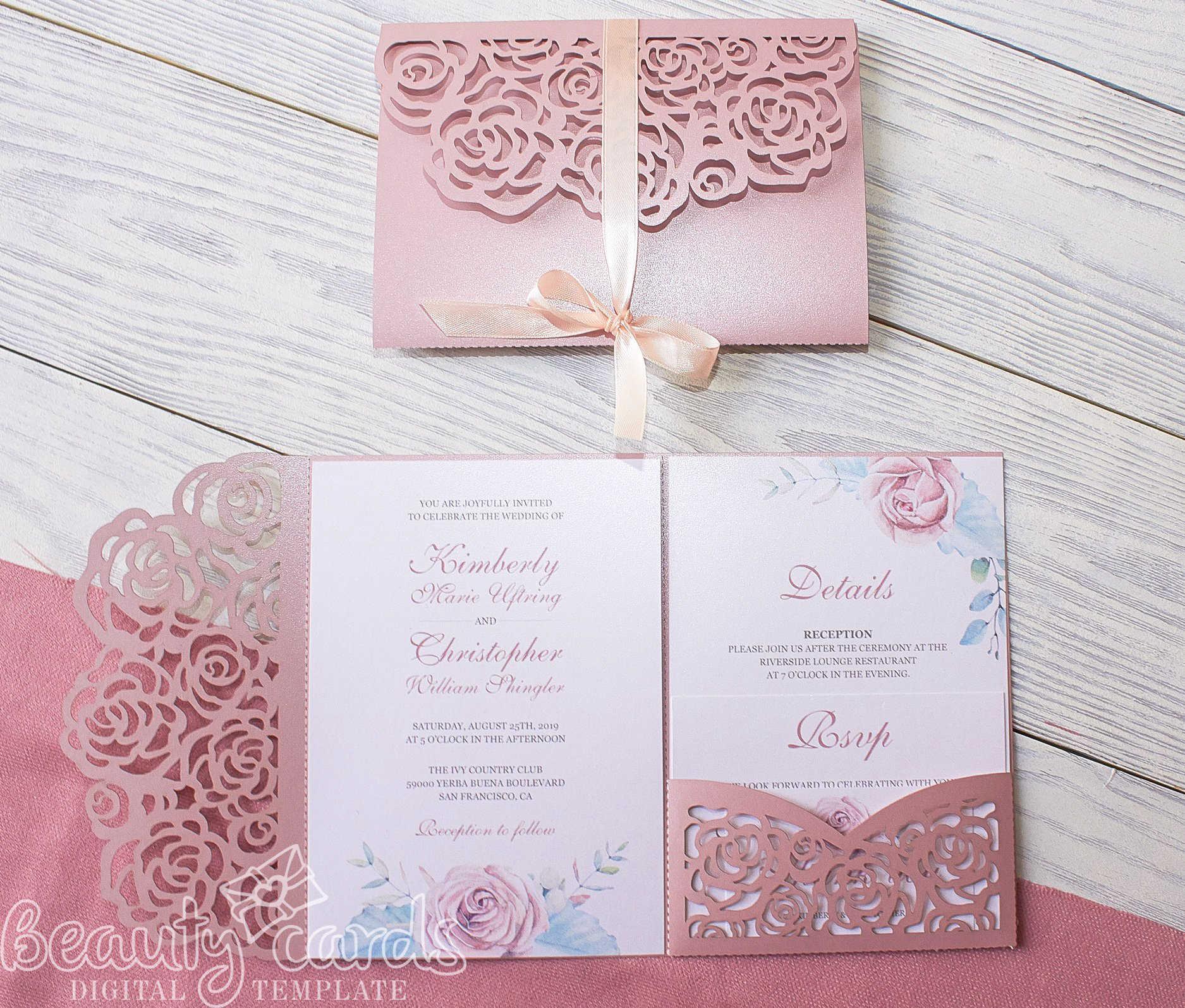 Rose Wedding Invitation Cutting Die Scrapbooking Craft Metal