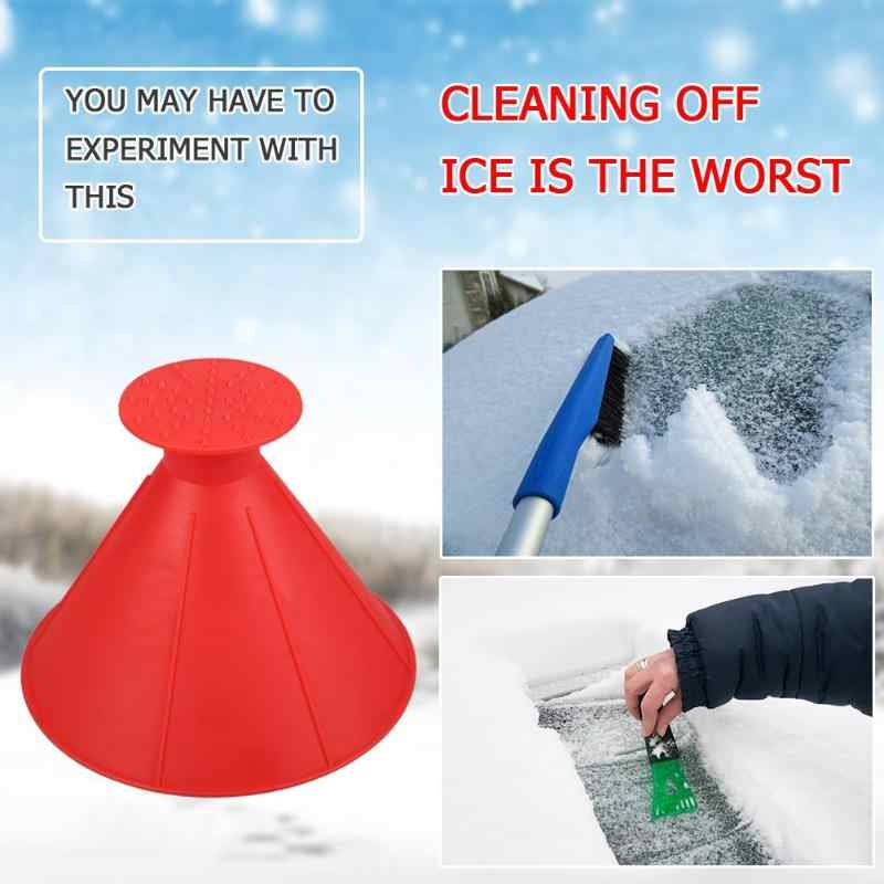 17.5cm/14.5cm Size Cone Shaped  Windshield Ice Funnel Car Glass Scraper Car Cone Shaped Snow Remover Convenient Cleaning Tools