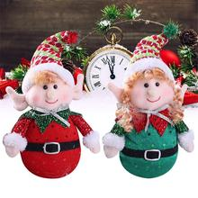 2019 Merry christmas Pendant Gift Santa Claus Snowman Tree Toy Doll Elf Hang Decorations for home Navidad New Year supplier цена и фото
