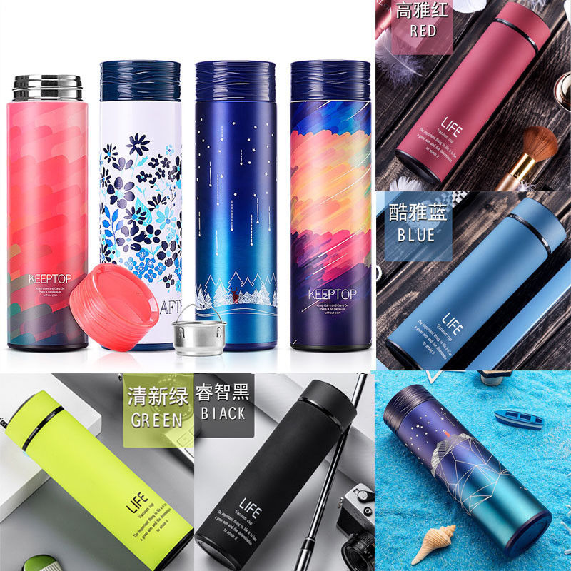 450ml Vacuum Insulated Water Bottle Hot Cold 500ml Double Wall Stainless Steel