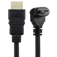 30cm מיקרו HDMI זווית נכונה זכר HDMI זכר (90 מעלות) תומך 4k