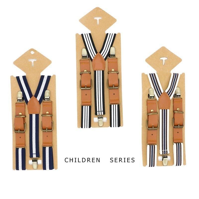 Infant Kids Boys Solid Suspenders Y-shapeLeather Suspenders For Children Girls Vintage Brown Braces Bretels Toddler Suspenders