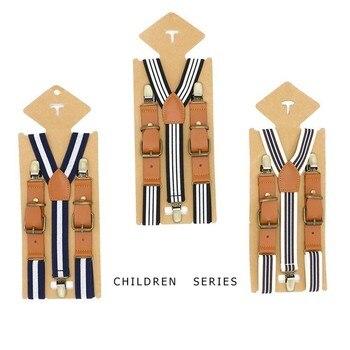 Tirantes lisos Y moldeadores para niños Y niñas tirantes marrones Vintage breteles tirantes para niño pequeño