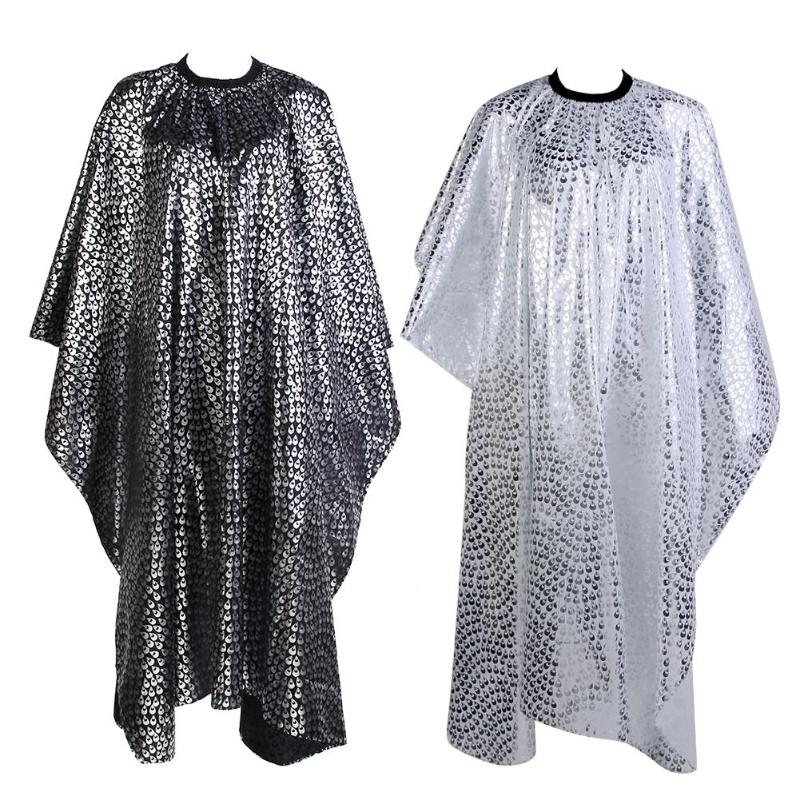 Hair Cut Cover Cloth Pro Adult Salon Hair Cut Wrap Cloth Hairdressing Hairdresser Barbers Waterproof Cape Gown Feather Pattern