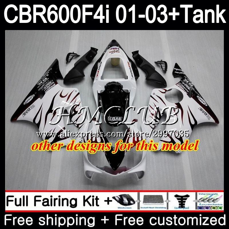 + Tanque Para HONDA Estoque red hot CBR 600 F4i CBR600FS CBR600F4i 2001 2002 2003 77HC. 1 600F4i 600 FS CBR CBR600 F4i 01 02 03 Carenagem - 3