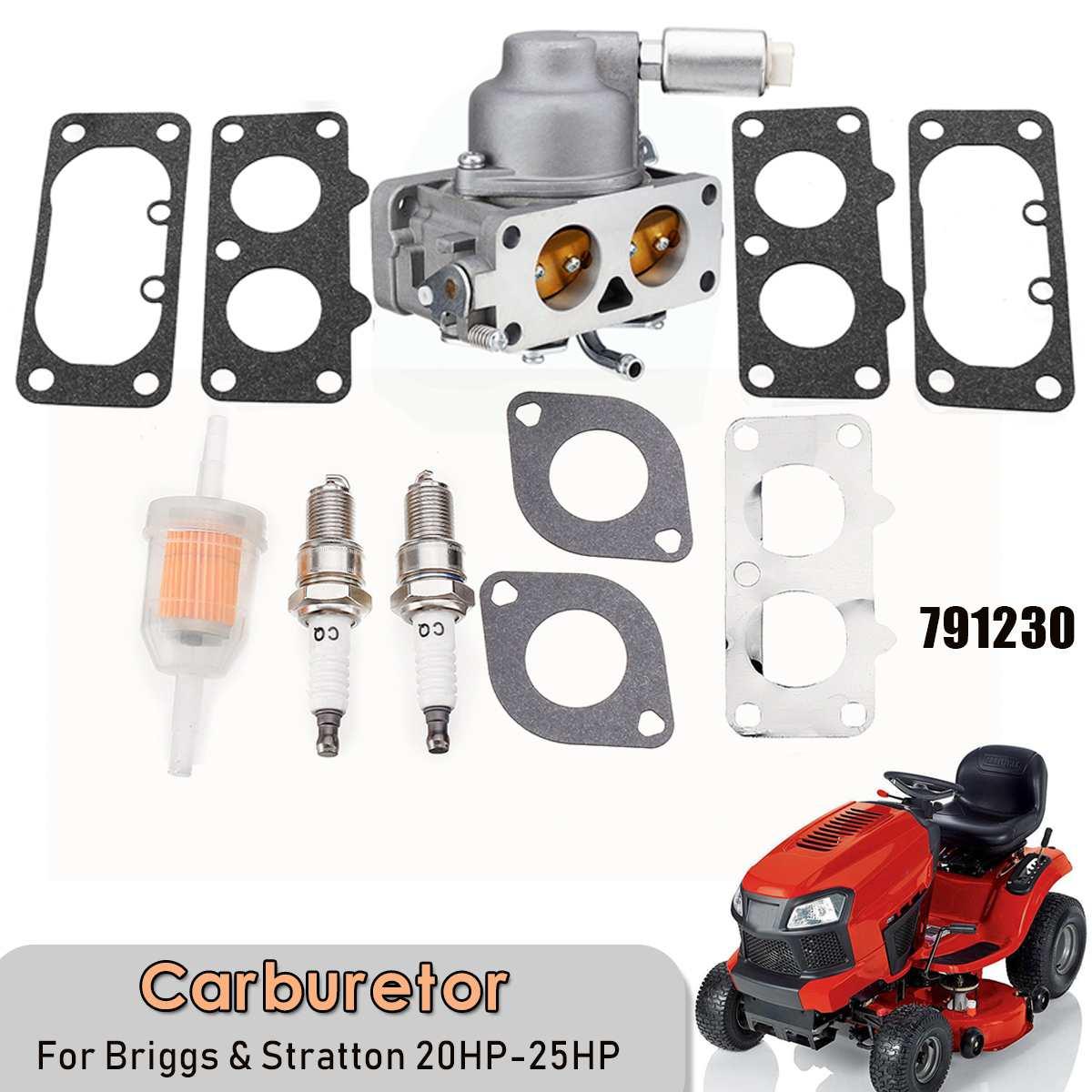 Kit d'outils carburateur pour Briggs et Stratton 20HP-25HP Intek v-twin Engine Carb 791230