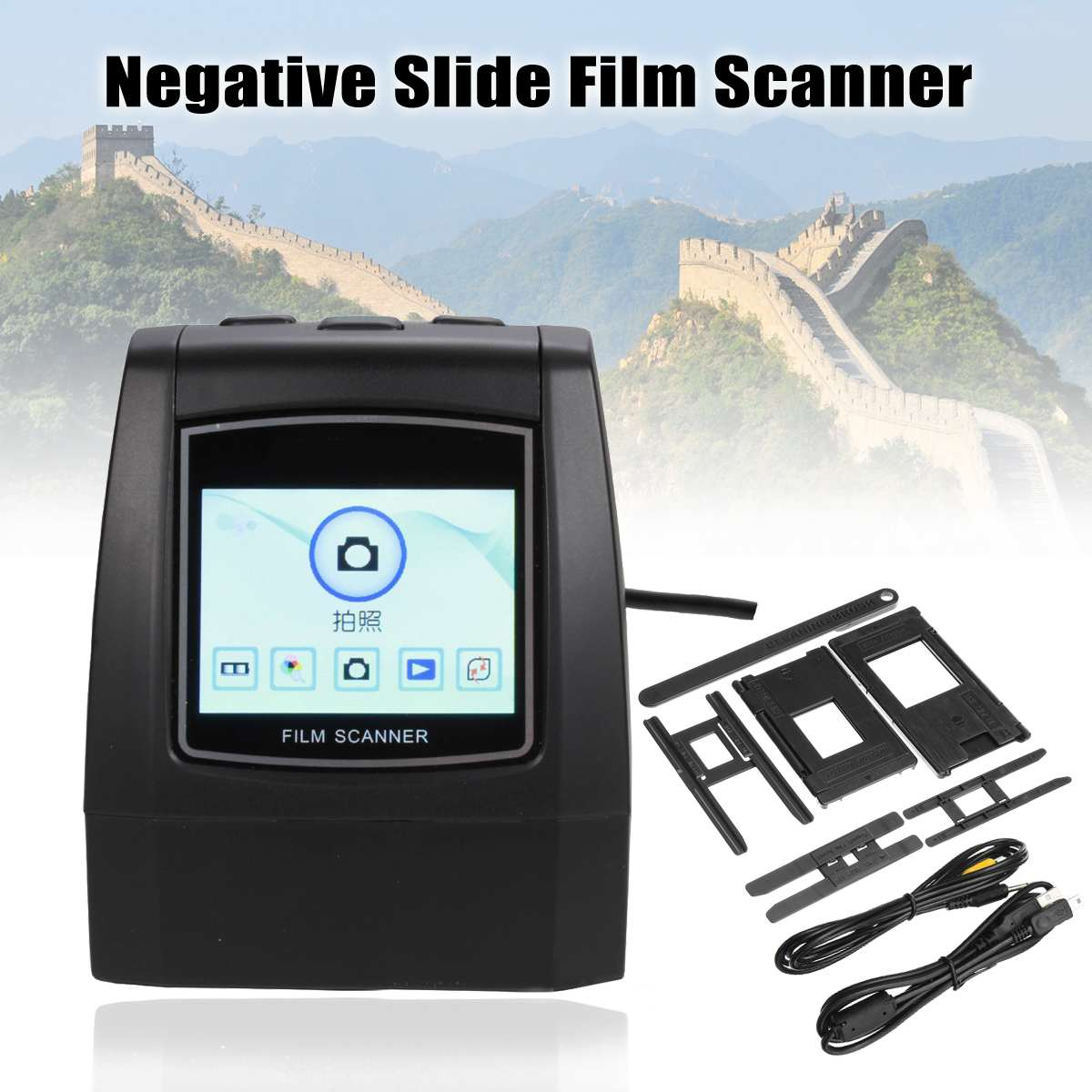 35mm 135/126/110/8mm High Resolution Negative Slide Film Scanner Photo Digitalizer Analog to Digital File 14MP/22MP bfq262a to 126