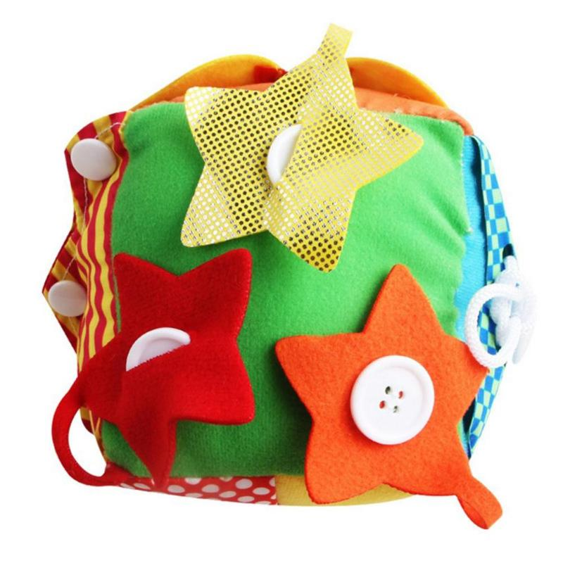 Bright Colorful Baby Bell Square Plush Cloth Books Button Zipper Shoelace Practice Training Learning Educational Toys Orders Are Welcome. Home