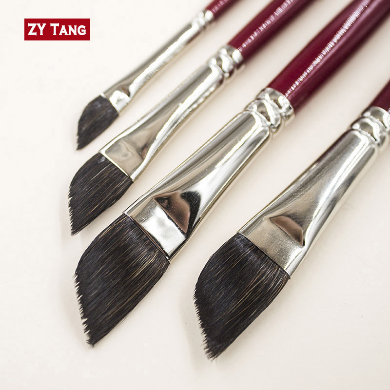 2018 DS  Bevel Angle Brush The Artifact Of Drawing Grass Squirrel Hair Liner Paint Brushes Artistic Watercolor Painting ,ZYTANG