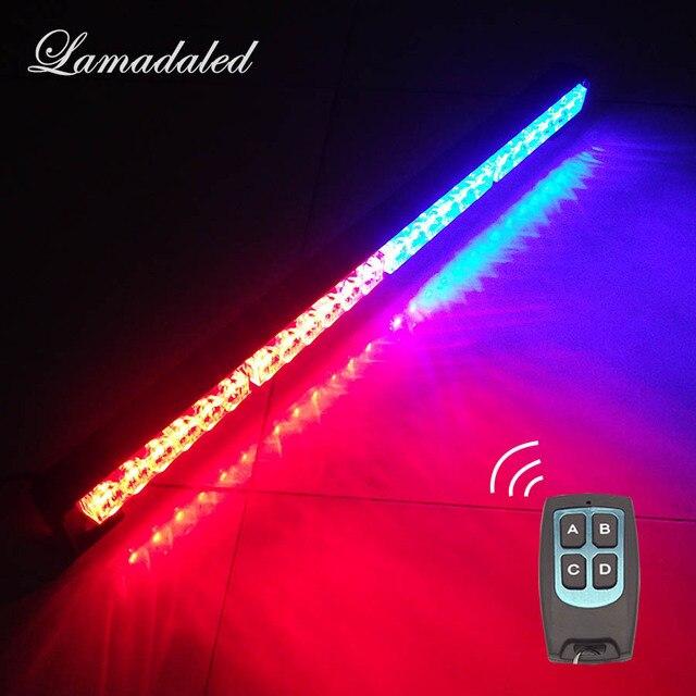 25inch Wireless control Car Strobe Light bar 65cm 24 LED Police warning Lights beacon emergency hazard blinking lamp with remote