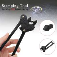 Jewellery Marking Stamping Pliers & 925 Hallmark Insert Metal Punch Stamp Kit Copper Alloy 0.7mm Font Height Jewelry Tools