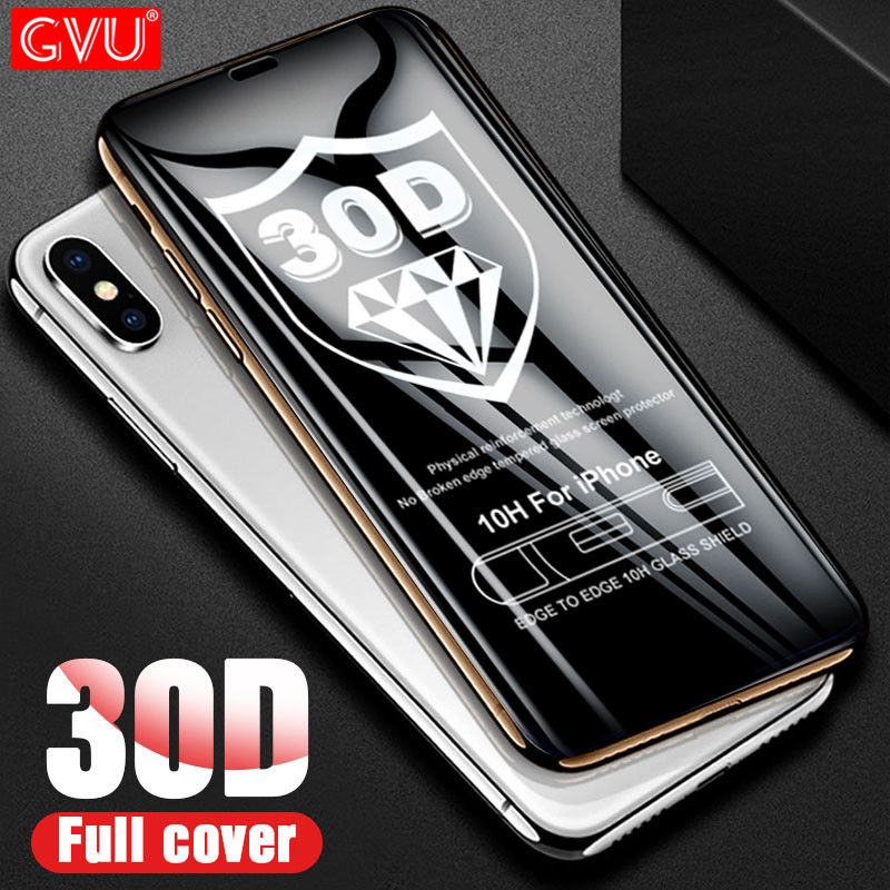 30D Full Coverage Protective Glass For IPhone X XS Max XR 7 8 6 6s Tempered Glass On IPhone 8 7 6 6s Plus Screen Protector Film
