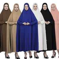 Молитвенная Одежда Мусульманский кафтан хиджаб макси платья свободные арабский джилбаб женская исламская одежда абайя летучая мышь плать...