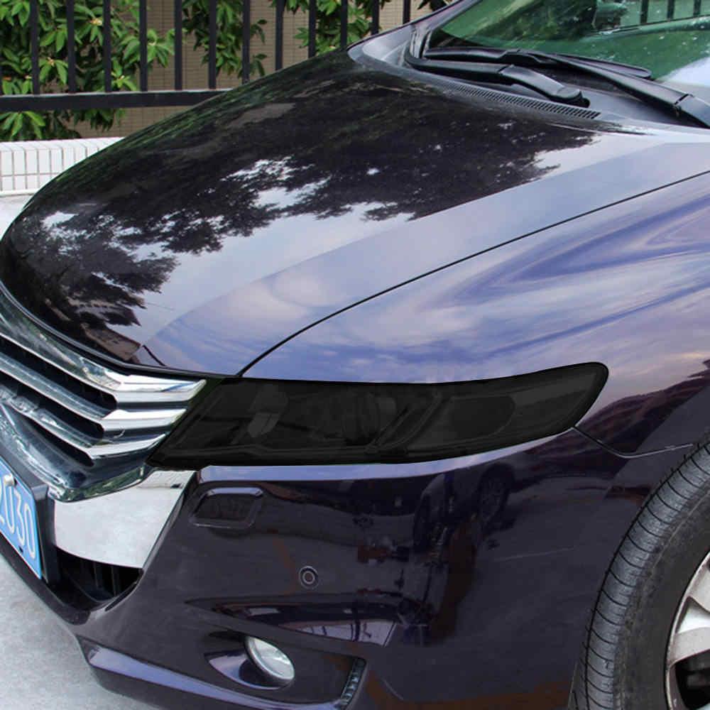 1 Pcs Auto Gloss Scuro Nero Affumicato Faro Fanale Posteriore Della Tinta Pellicola Dell'involucro Del Vinile della Pellicola Del Faro Dell'automobile Nero Sticker 40*152 centimetri