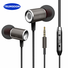 Trumsoon Stereo Magnetic Earphones Bass Sport Earbuds Line Control Earphone with Mic for Apple Xiaomi phones MP3 PC