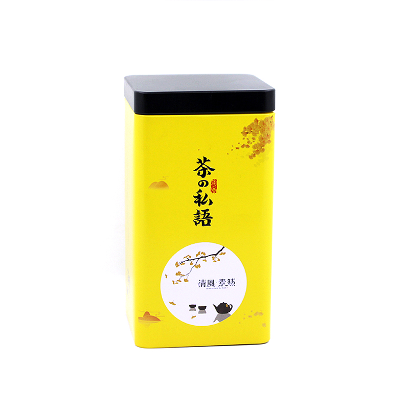 Xin Jia Yi Packaging Large Tin Can Square Shape Green Tea Empty Tin Can Wholesale Custom 10oz Tin Can Container