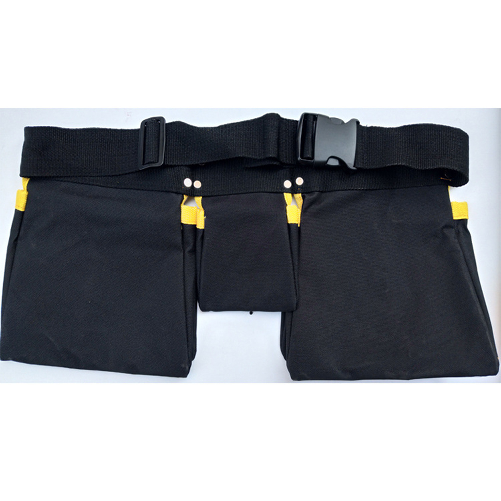 1pc Multi-functional Utility Pouch Belt Bag Tool Storage Holder Electrician Tool Bag Oxford Cloth Waist Pocket for Electrician