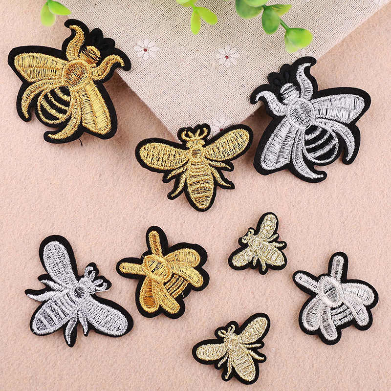 PGY Insect series Embroidered Patches Sew On For Clothing DIY Applique Stickers Clothes Sew Badges Big Sticker Free Delivery